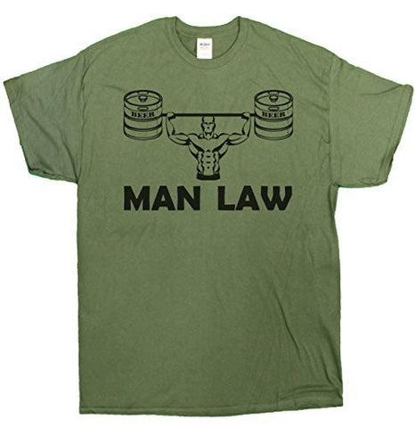 "Men's ""MAN LAW"" Funny Manly T-Shirt"