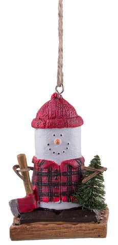 S'mores Lumberjack Christmas/ Everyday Ornament