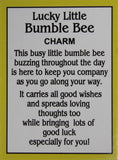 Ganz Lucky Little Bumble Bee Charm with Story Card