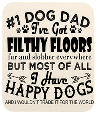 Dog Lovers #1 Dog Dad Heavy Duty Mouse Pad