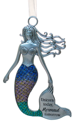 3.5 Inch Zinc Mermazing Mermaid Ornament-  Mermaid Tomorrow