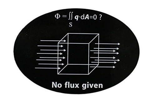 No Flux Given Funny Science Geek Nerd Oval Magnet (Car or Fridge!) 4x6 inches