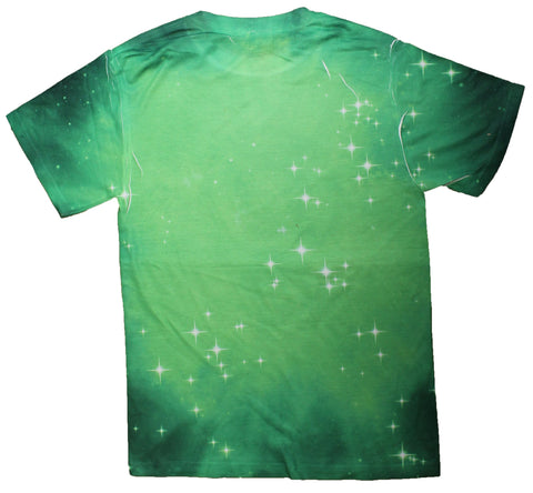 DC Comics Green Lantern Logo In Space All Over Print Sublimated Mens T-Shirt