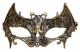 Costume Accessory - Lace Bat Mask with Elastic Band (Gold)