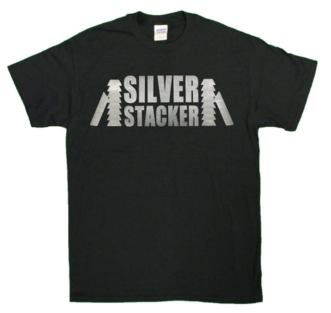 "Men's ""Silver Stacker"" Silver Lovers Foil Print T-Shirt"