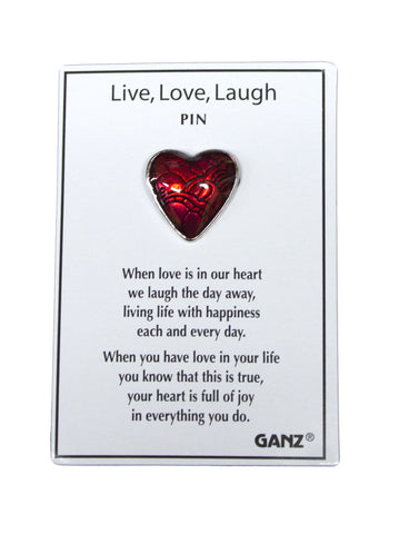 Ganz Good Luck Pins- Live Love Laugh