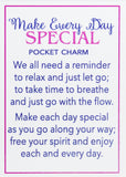 Make Every Day Special Inspirational Nautical Pocket Charms w/ Story Card