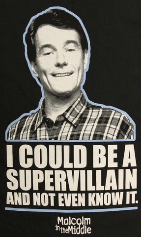 Malcolm in the Middle Could Be A Supervillain Official Licensed Men's T-Shirt