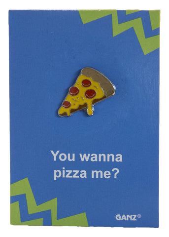 Pin It! Lapel Pin Hat Pin Tie Tack with Colorful Enamel and Funny Pun- Pizza