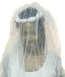 Jacobson Hat Company Ladies 32 Inch Long White Flower Bride Bridal Costume Veil…