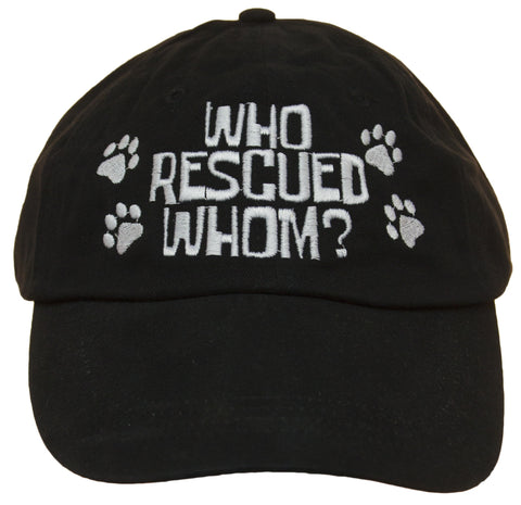 Unisex Adult Who Rescued Whom Embroidered Baseball Cap hat