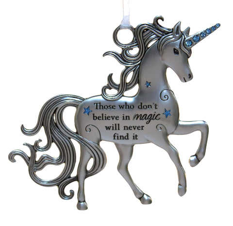 3 Inch Inspirational Zinc Unicorn Ornament - Those who don't believe