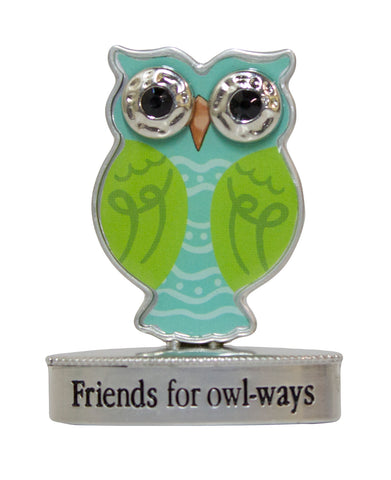 2 Inch Happy Little Owl Figurine W/ Colorful Enamel - Friends For owl-ways