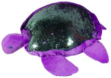 16 Inch Color Changing Sequin Turtle Plush Pillow