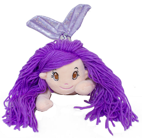 14 Inch Glitter Sparkle Swimming Mermaid Plush Toy (Purple)