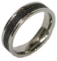 Men's Stainless Steel Dress Ring Two Tone Band 092