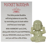 1.5 Inch Pocket Buddha Charm/ Shelf Sitter With Story Card