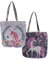 Unicorn Lovers Color Changing Sequin Tote Bag In Choice Of Style