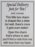"Special Delivery 1 Inch Envelope Box Charm w/ Story Card - ""I Love You"""