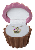 Cupcake Cuties Enamel Pendant Necklace in Figural Gift Box