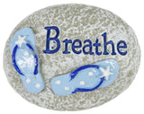 1.5 Inch Life's A Beach Inspirational Relaxation Stones With Story Card
