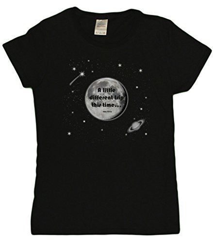 "Ladies ""A Little Different Trip This Time"" John Glenn Tribute T-Shirt (Black)"