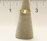Women's 18 Kt Gold Plated Dress Ring Oval Cut CZ 113
