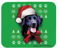 Dog Lovers Black Lab Ugly Sweater Christmas Design Mouse Pad
