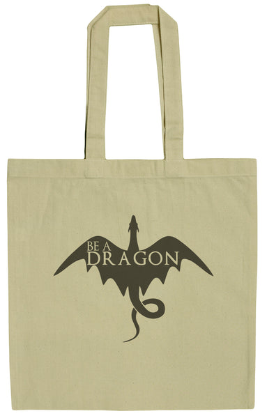 Be A Dragon 15 Inch Canvas Tote Bag