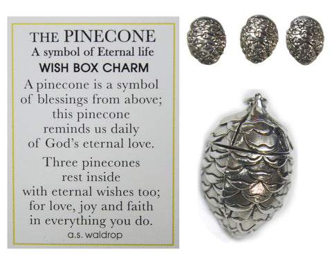 The Pinecone Symbol Of Eternal Life Wish Box Charm With Story Card