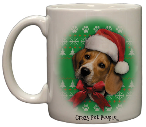 Dog Lovers Beagle Ugly Sweater Christmas Design Ceramic Coffee Mug