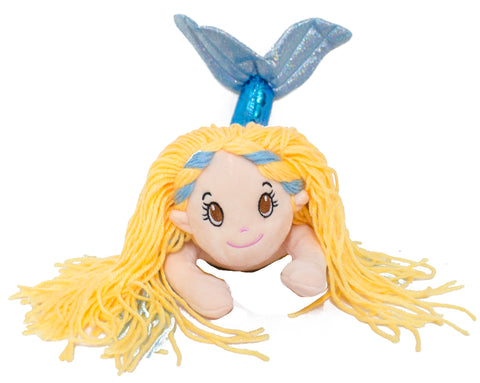 14 Inch Glitter Sparkle Swimming Mermaid Plush Toy (Blue)