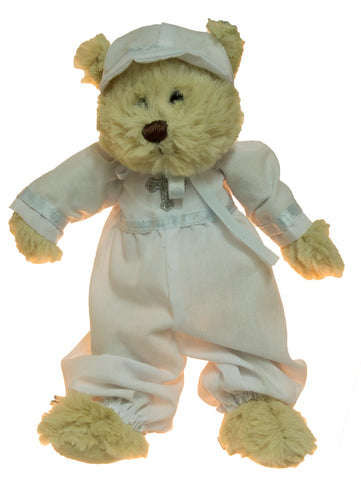 Adorable 8 Inch Mini Plush Christening Bear (Boy)