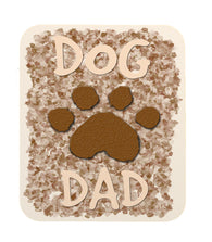 "Dog Lovers ""Dog Dad"" with Paw Print Mouse Pad"