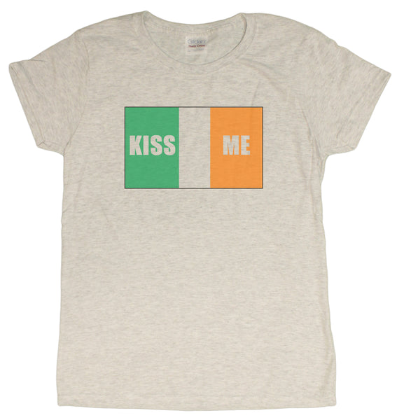Kiss Me I'm Irish St. Patrick's Day Ladies T-Shirt
