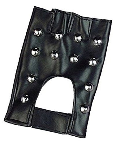 Forum Novelties Men's Studded Costume Gloves, Black, One Size