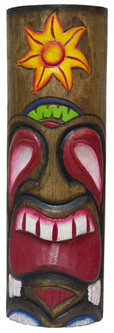 Hand Carved And Painted 12 Inch Wood Totem Pole (Sun)