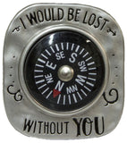 Let Love Be Your Guide Compass Pocket Charm With Story Card (Lost Without You)