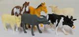 6 Pack of 5 to 6 Inch PVC Farm Animal Figurines