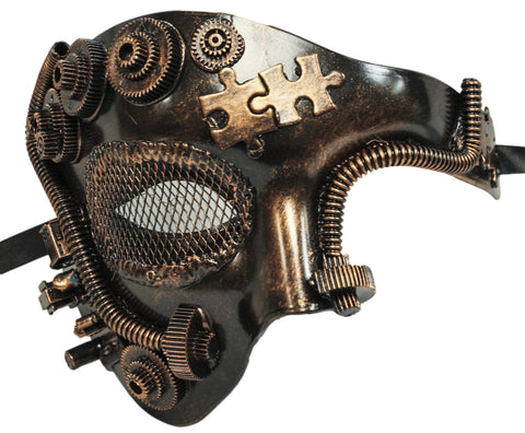 Steampunk Bronze Phantom Half Plaster Mask (75990)