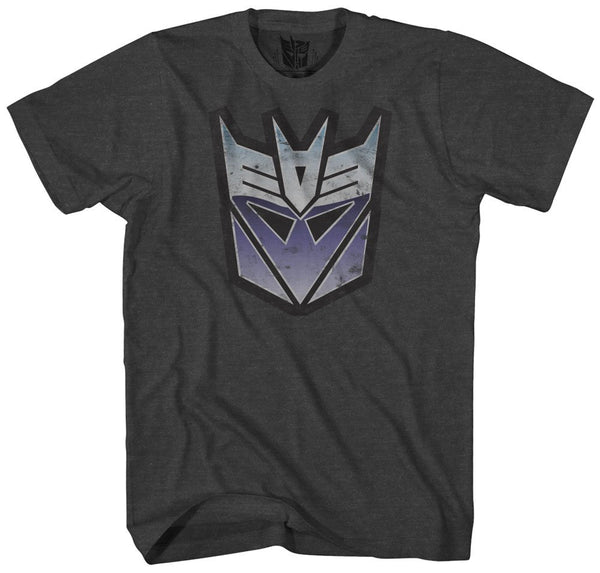 Transformers Men's Stressed Decepticon Short Sleeve T-Shirt