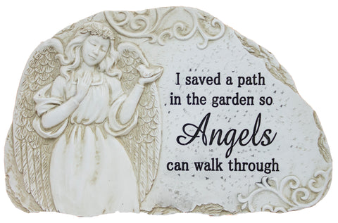 "11 Inch Wide Polystone Merorial Stone/ Plaque ""I saved a path…"""
