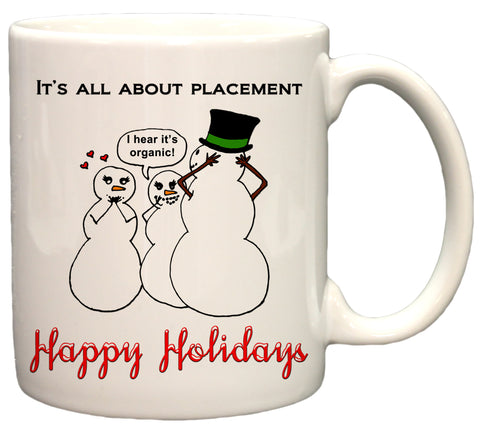 Naughty Snowman Funny Christmas 11oz Coffee Mug