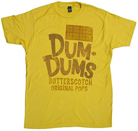 Men's Retro Style Dum Dums Original Pops Butterscotch Flavor T-Shirt