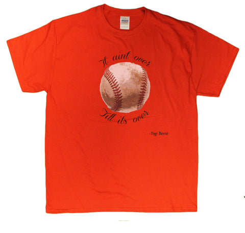 Men's It Ain't Over Till It's Over Yogi Berra Tribute T-Shirt