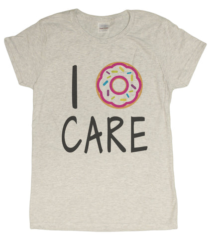 "Ladies ""I Donut Care"" Funny T-Shirt"