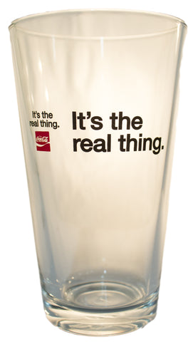 Coca Cola Vintage Inspired It's the Real Thing Pub Glass