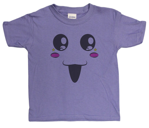 Girls 4-20 Cute Happy Face Youth T-Shirt