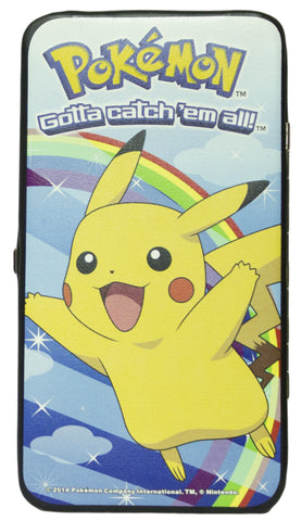 Pokemon 7 Inch Women's Hinged Wallet - Pikachu Rainbow