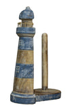 Nautical Decoration Hand Carved/ Painted Seashore Lighthouse Paper Towel Holder